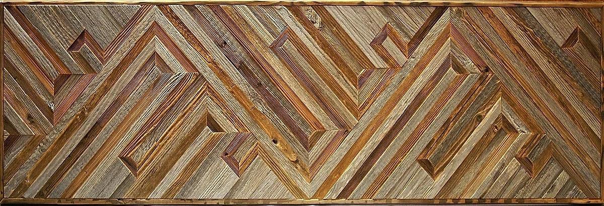 Амбарная доска Flitch Design Панно из старого дерева RN11
