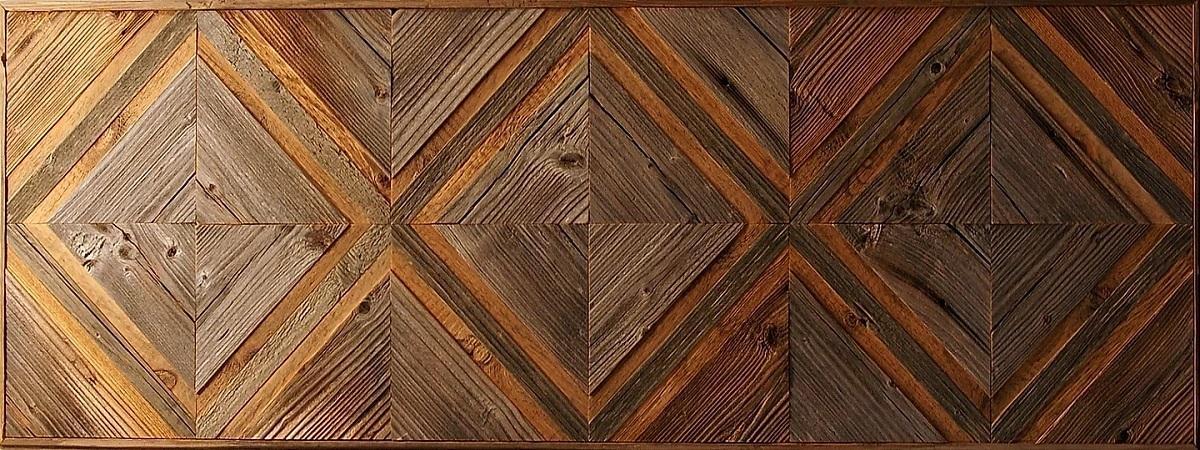 Амбарная доска Flitch Design Панно из старого дерева RN07