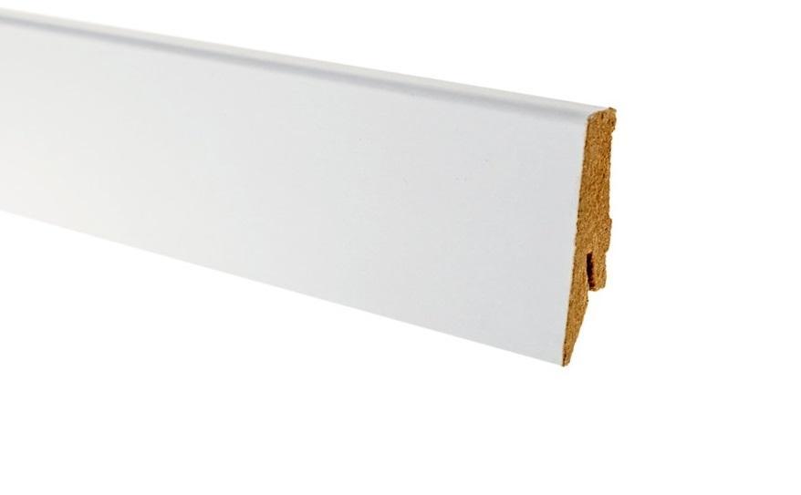 Плинтус напольный Greff Белый под покраску 1002 МДФ
