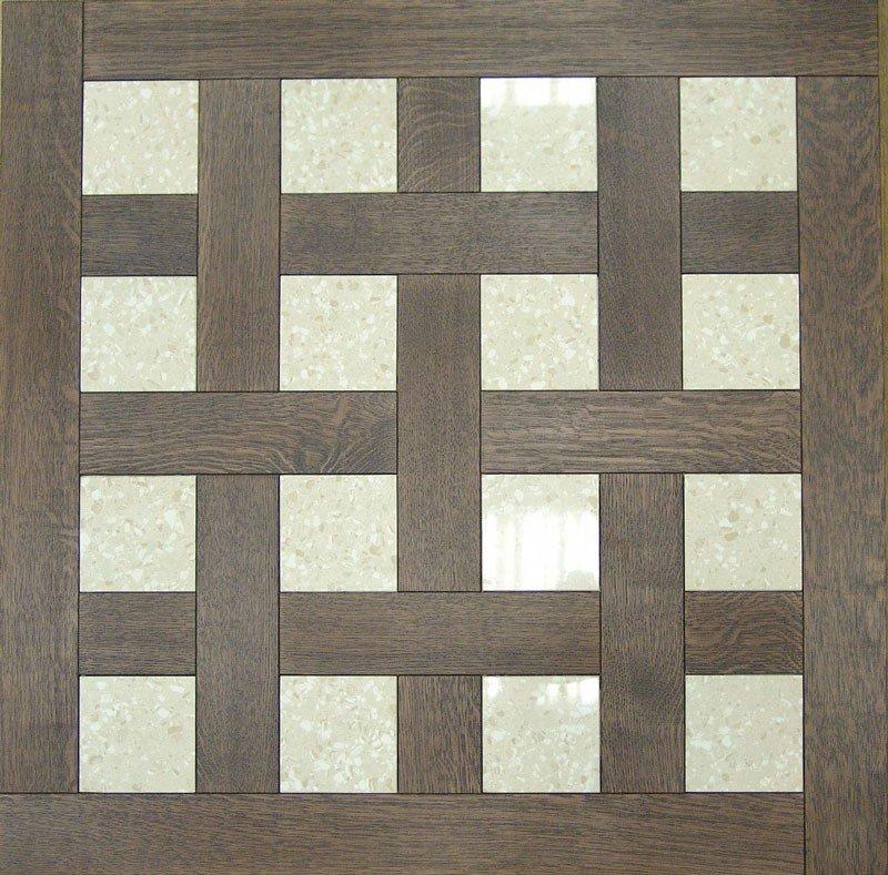 Модульный паркет Da Vinci с камнем 26-006-00357