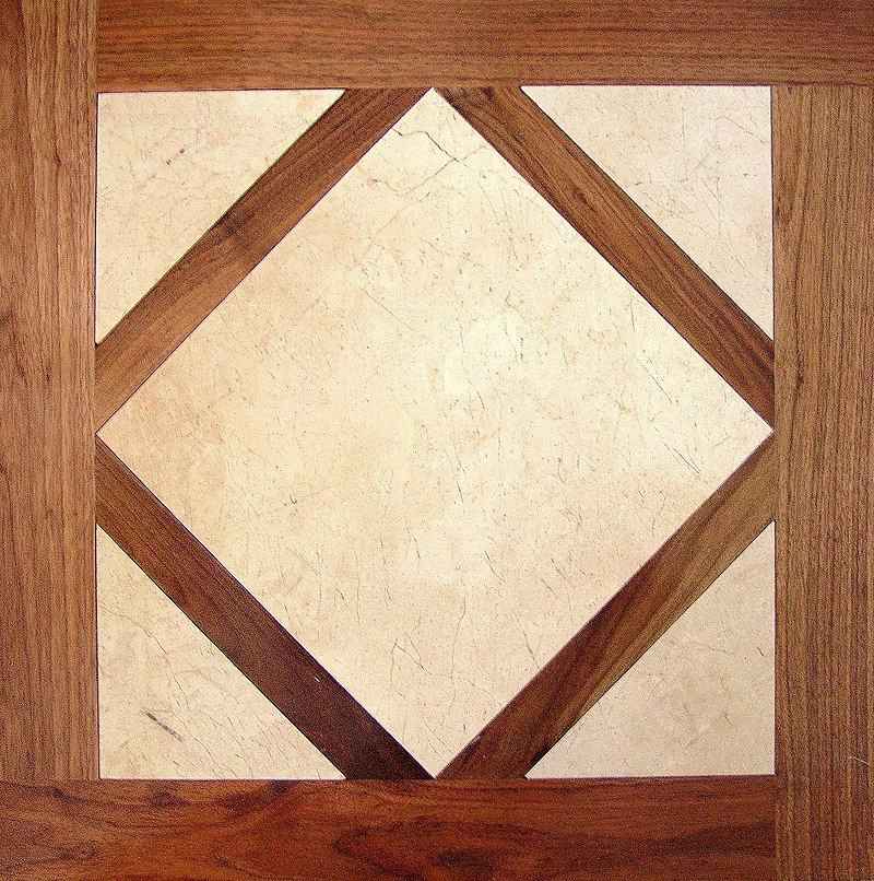 Модульный паркет Da Vinci с камнем 26-006-00359