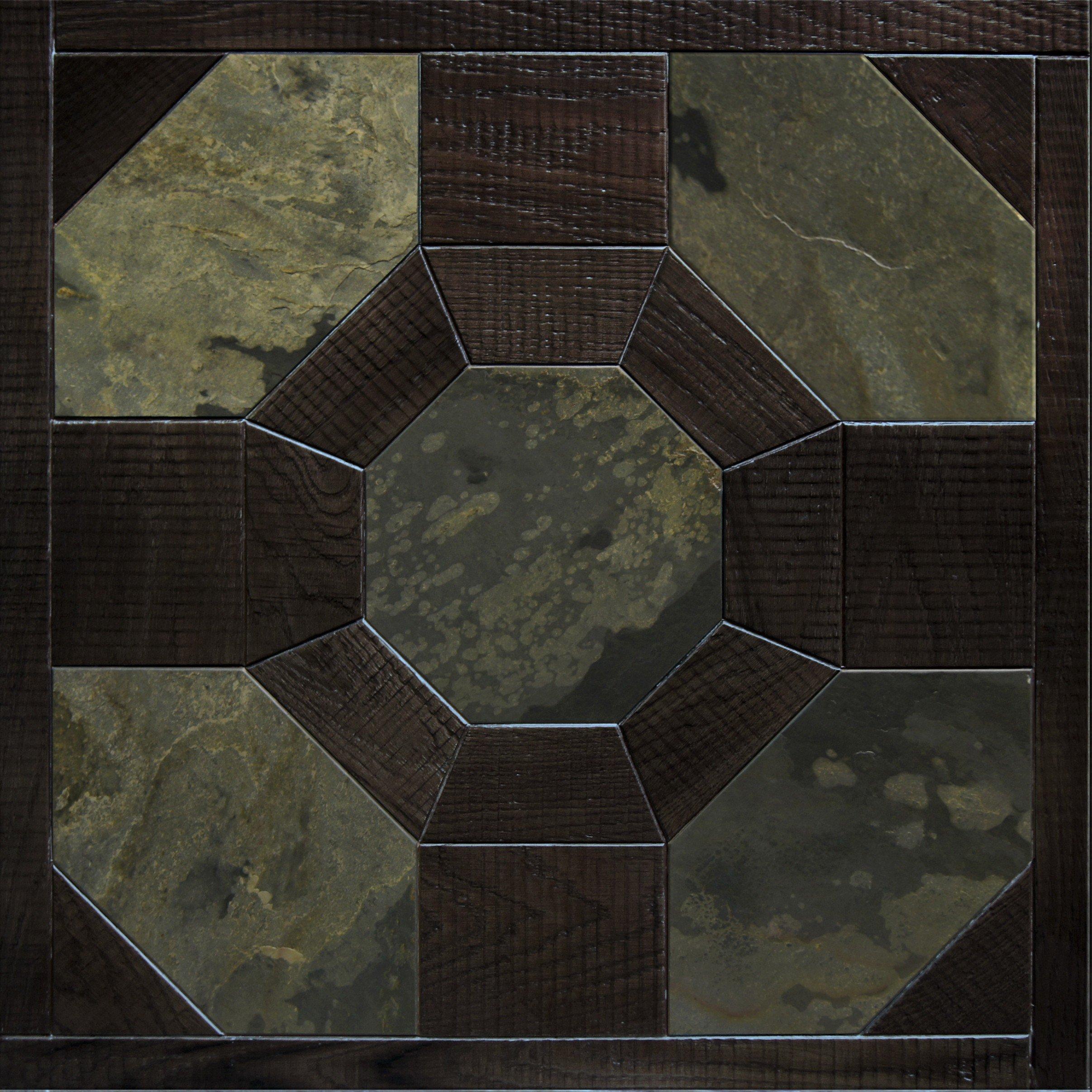 Модульный паркет Da Vinci с камнем 26-006-00377
