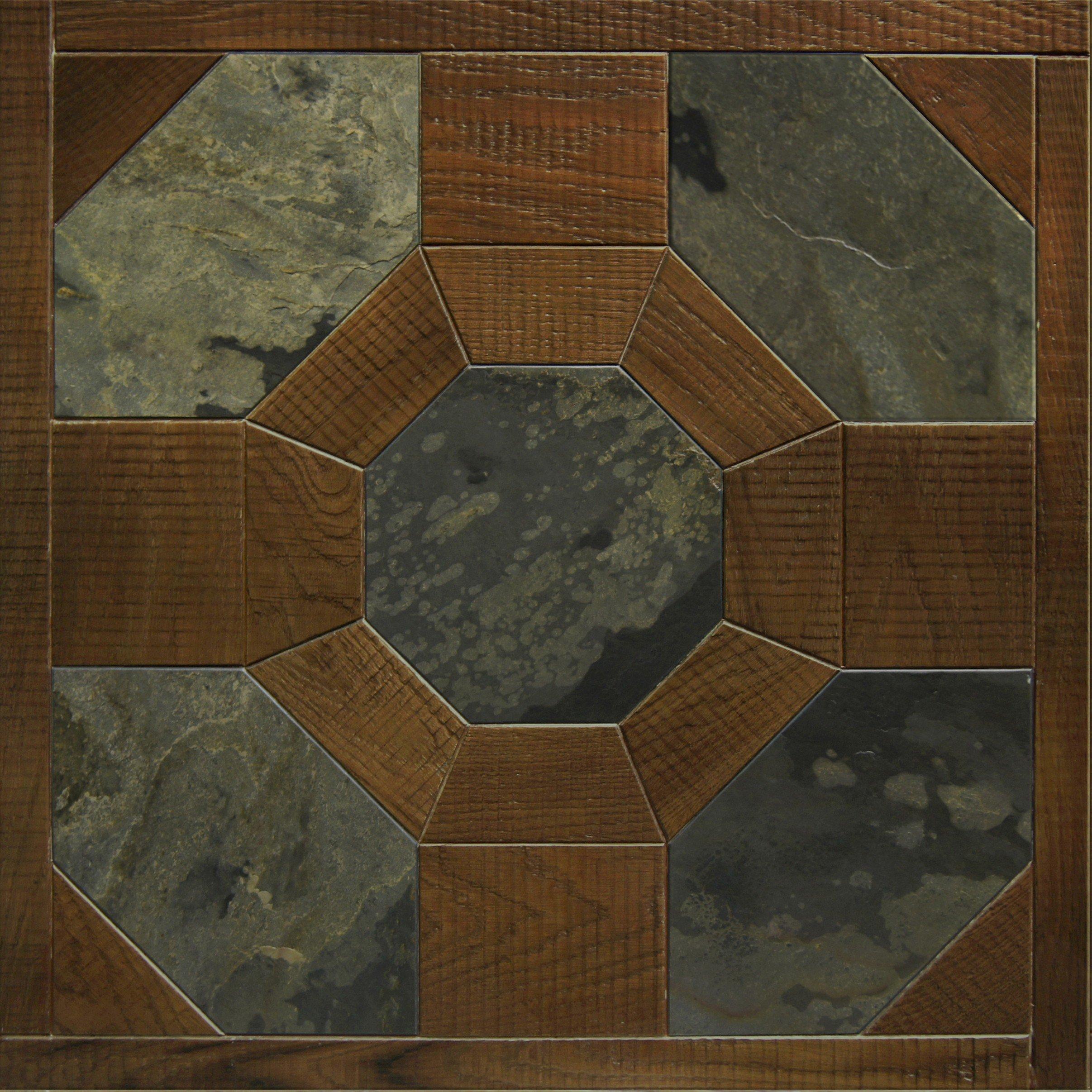 Модульный паркет Da Vinci с камнем 26-006-00378