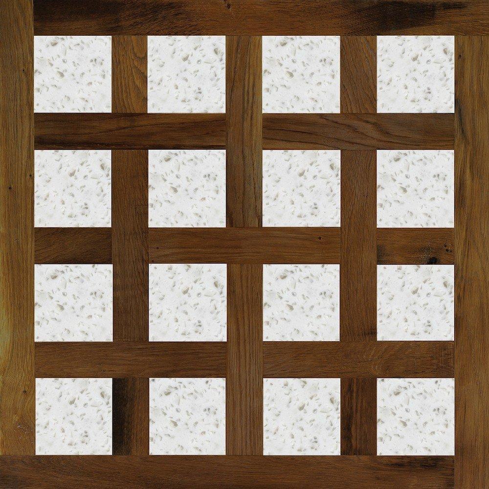 Модульный паркет Da Vinci с камнем 26-006-00387