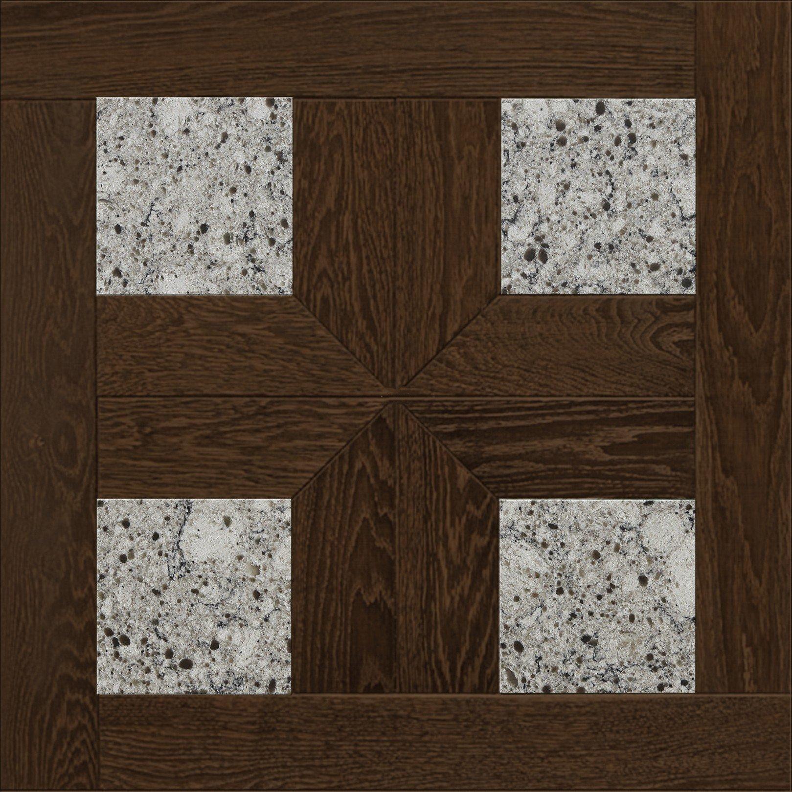 Модульный паркет Da Vinci с камнем 26-006-00400
