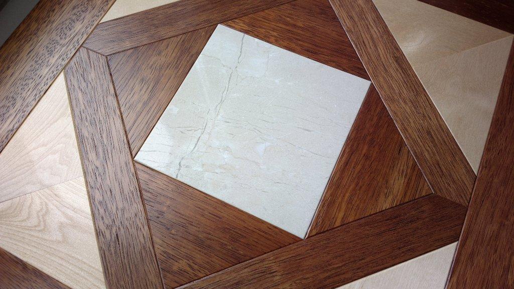 Модульный паркет Da Vinci с камнем 26-006-00462