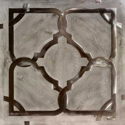 Модульный паркет Da Vinci с металлом 26-006-00504
