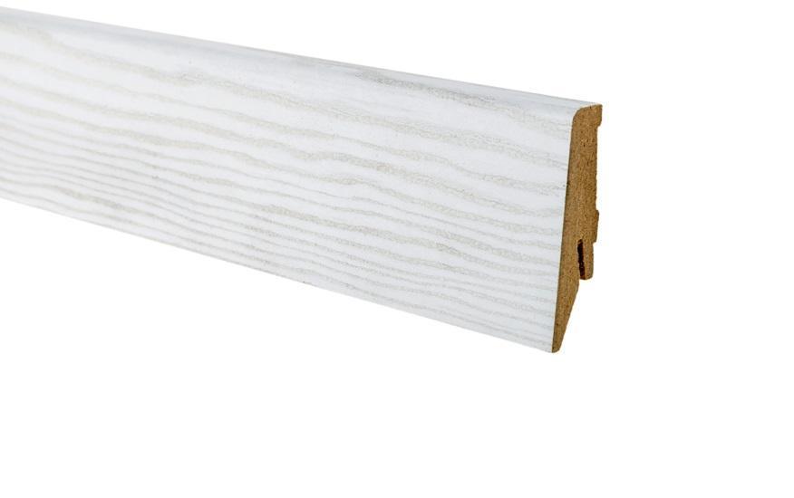 Плинтус напольный Greff Белая Береза 1056 МДФ