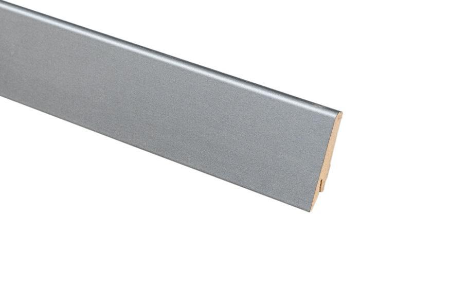 Плинтус напольный Greff Металл 1007 МДФ