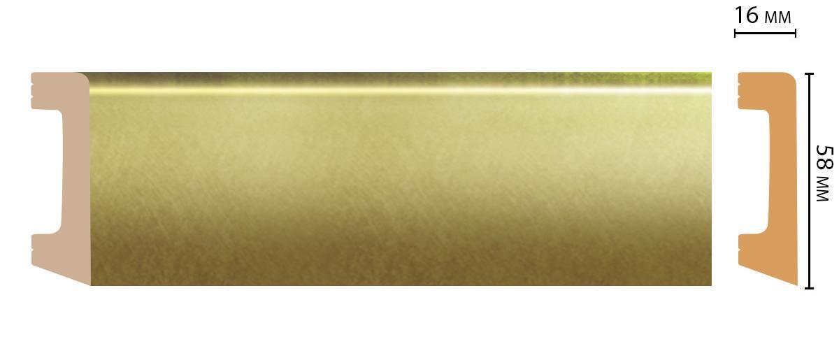 Плинтус напольный Decomaster D234-374