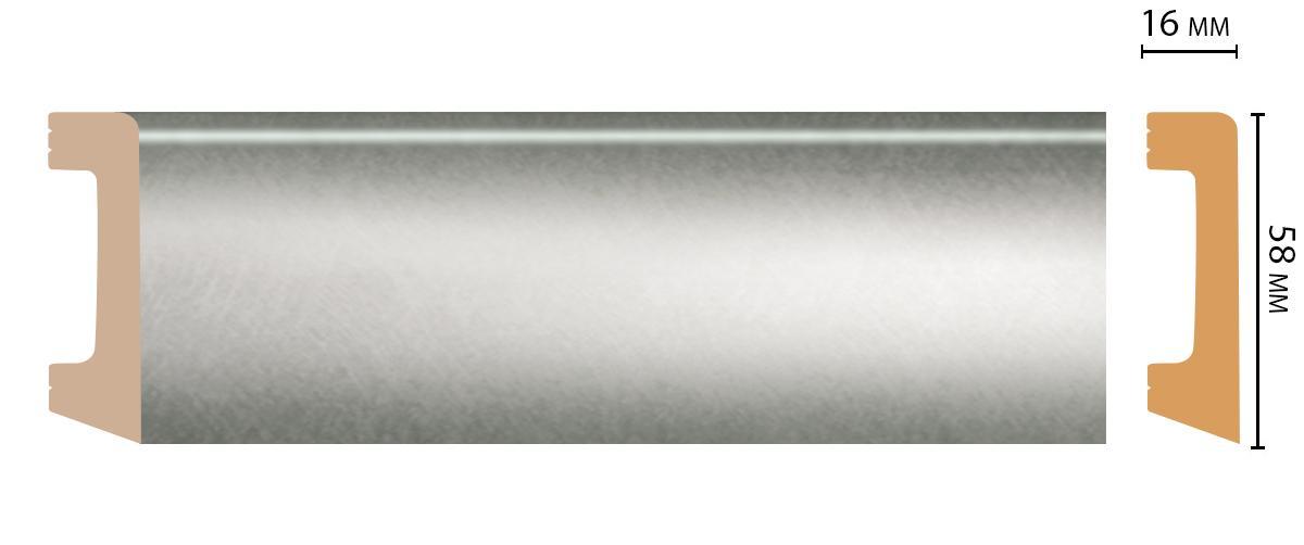 Плинтус напольный Decomaster D234-375