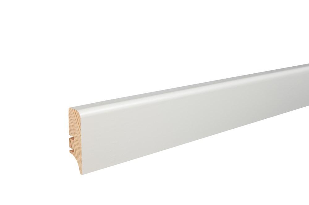 Плинтус напольный Barlinek Elite, окрашенный в белый цвет