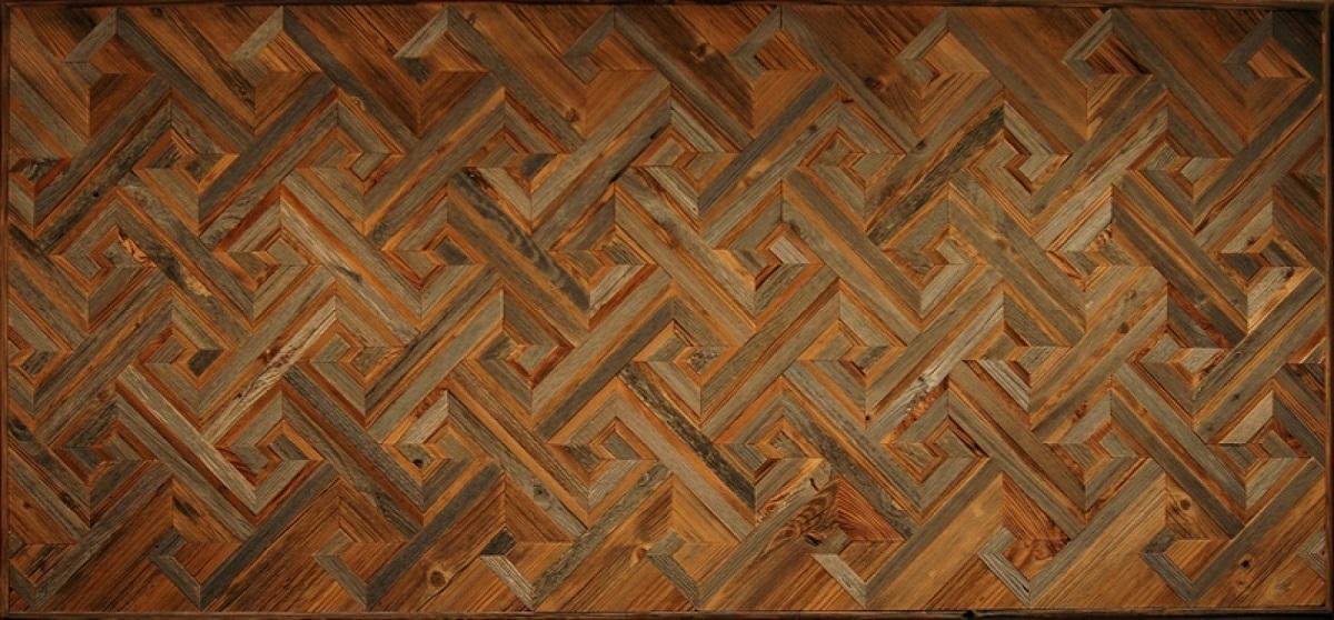 Амбарная доска Flitch Design Панно из старого дерева RN12